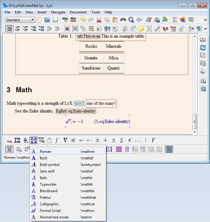 LyX | LGT (4/5) — Math editor