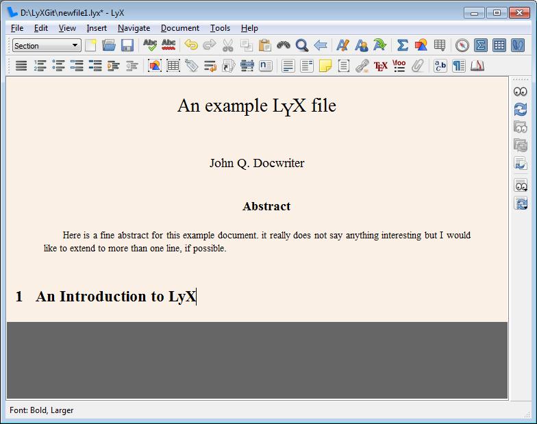LyX | LGT (2/5) — More text